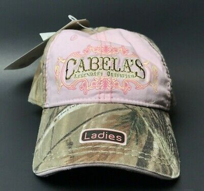 7bf2a07e9afd8 Ladies NWT Cabela s RealTree Pink Camouflage Baseball Cap Cotton Hat Strap  Back