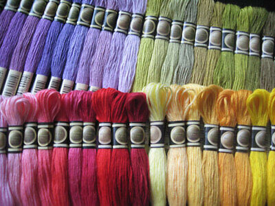 447 Colors of Cross Stitch Floss Embroidery Threads