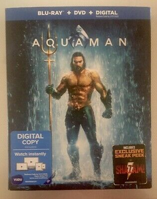 Aquaman (Slipcover Only) No Digital HD, Blu-Ray Disc or DVD Disc