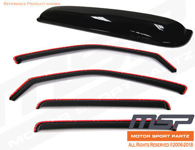 Ash Grey Outside Mount JDM Vent Visors Deflector 4pcs For Scion xD 08-14
