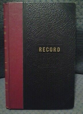 Vernon McMillan old lined RECORD BOOK 1960's 1970's Black bound office 2044