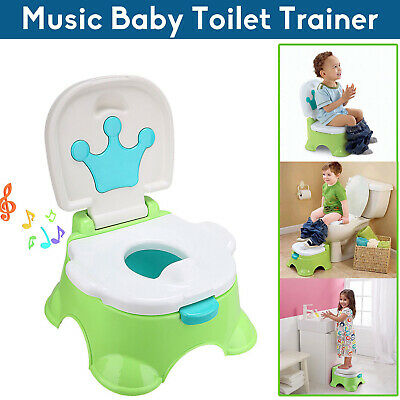 3 in 1 Baby Toilet Music Trainer Kid Potty Toddler Training Safety Seat AU STOCK