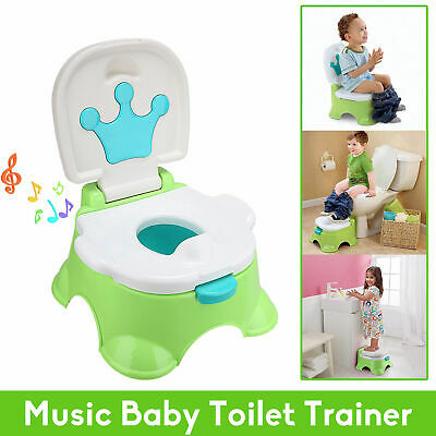 3iN1 Kids Potty Training Potty Baby Toilet Toddler Safety Seat Chair AU Stock