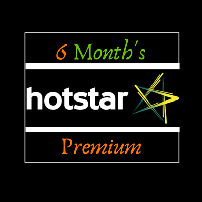 HotStar Exclusive Shows, Movies & Live Cricket Streaming 6 Months Premium