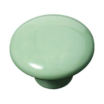 10X(Small Round Handle Button In Ceramic for Door Cabinet Wardrobe I1H4)