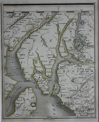 Original antique map SCOTLAND, INVERARY, LOCH FINE, DUMBARTON, Cary,1794