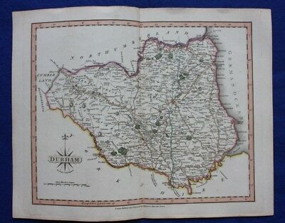 Original antique map DURHAM, John Cary, 1809