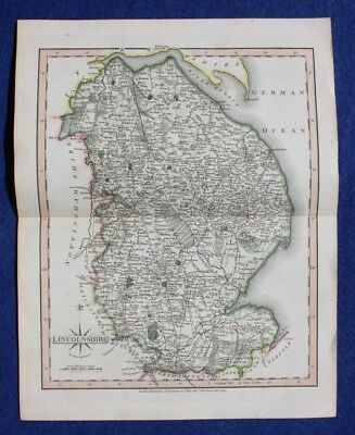Original antique map LINCOLNSHIRE, John Cary, 1809