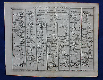 Original antique map SOMERSET, WILTSHIRE, YORKSHIRE, Jefferys, 1775