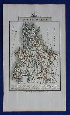 Original antique map SOUTH WALES, John Cary, 1828