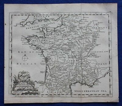 Original antique map FRANCE, Thomas Jefferys, c.1756