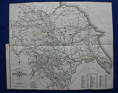 Original antique map of YORKSHIRE from Cary's Traveller's Companion, Cary, 1819