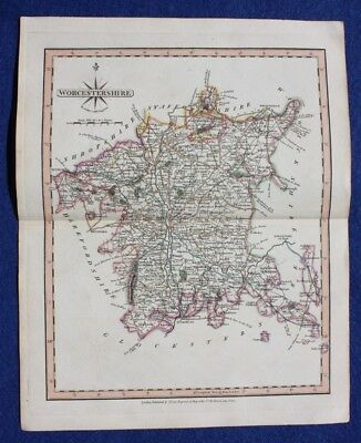 Original antique map WORCESTERSHIRE, John Cary, 1809