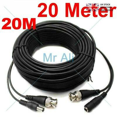 20METRE PRE-MADE SIAMESE CABLE CCTV BNC VIDEO AND DC POWER CABLE 20m