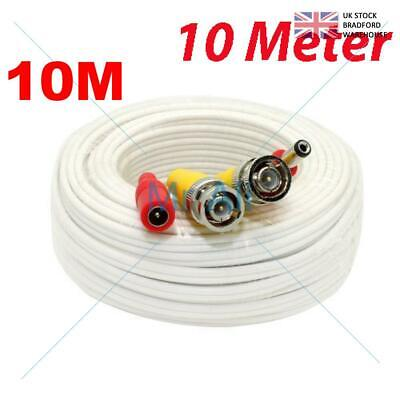 10mMETRE PRE-MADE SIAMESE CABLE CCTV BNC VIDEO AND DC POWER CABLE W 10M