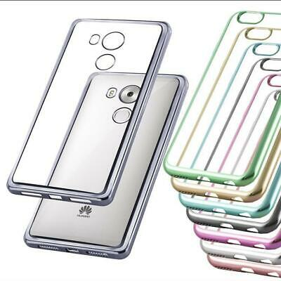 Coque pour Huawei Antichoc Effet Chrome Silicone Housse TPU Cover Bumper
