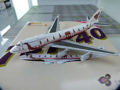 1/500e Big Bird THAI Int. Royal Barge Boeing 747-400 HS-TGJ - RARE