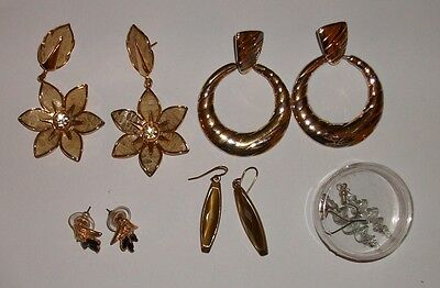 costume jewellery earrings  - vintage - bulk - joblot - sale - bargain - lot 32