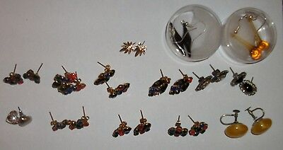 costume jewellery -pierced earrings- joblot - sale - bargain - lot 25