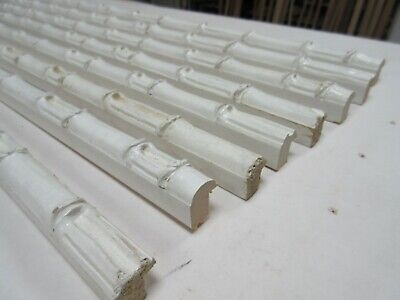 Bundle: 8 Lengths (8m) White Painted Bamboo Wooden Picture Frame Moulding 16mm