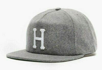 9ee2e6fe Huf Worldwide Skate Shoes Cap Camp 5 Panel Dad Hat Wool Classic H Strapback  Grey