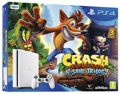 Playstation 4 PS4 500GB White Console + Crash Bandicoot N-Sane Trilogy Bundle