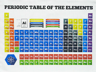 Periodic Table of the Elements - Large Cotton Tea Towel by Half a Donkey