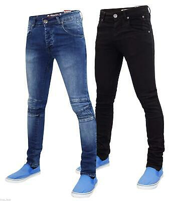 New Mens Skinny Slim Fit Jeans Seven Series Stretch Biker Denim Pants All Waist