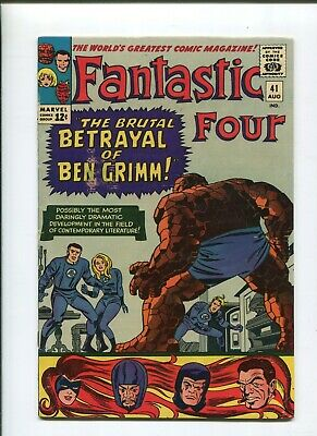 Fantastic Four #41 The Betrayal Of Ben Grimm! (6.0) 1965 Lee Kirby