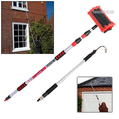 Voche® 3 Metre Telescopic Water Fed Wash Brush Plus Telescopic Gutter Cleaner