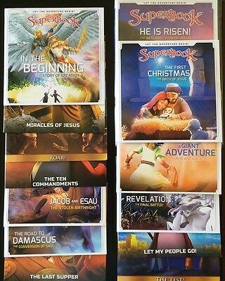 13 SUPERBOOK! All NEW Complete Season 1 DVDs CBN Children  Faith Family