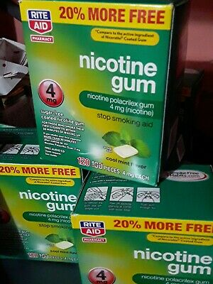 RITE AID NICOTINE GUM 4MG 360 PIECES COOL MINT FLAVOR Exp 11/2019 NEW SEALED