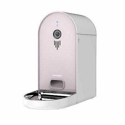 Dogness Smart Cam Feeder Automatic Pet Food Dispenser with HD Camera, Pink