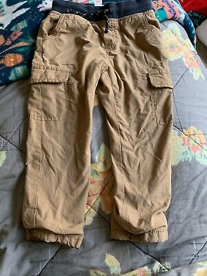 9205f096a Cat & Jack Toddler 2T Boys Cargo Pants Lined Adjustable Drawstring Tan
