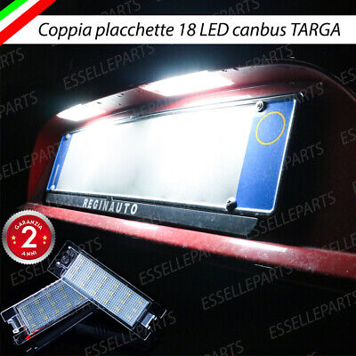 Coppia Luci Targa Plafoniere Complete Peugeot 407 18 Led Canbus 6000K Bianco