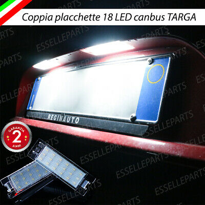 Coppia Luci Targa Plafoniere Complete Peugeot 301 18 Led Canbus 6000K Bianco