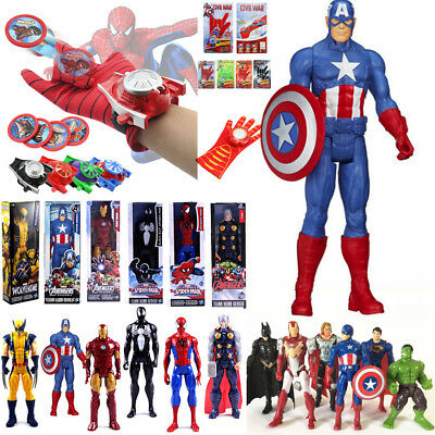 Marvel Superheld Spiderman Action Figur Figuren Handschuhe Launcher Spielzeug