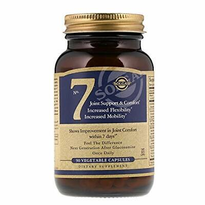 Solgar® No. 7 Joint Support & Comfort Non-GMO, 90 Vegetable Capsule Exp 08/2020+