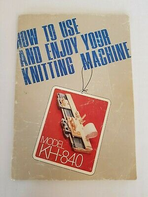Bk184 Brother Knitting Machine Instruction Manual Book Kh840 Kh-840 Punch Card