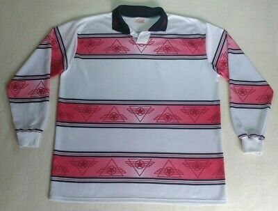 Vintage 90's JAKO Long Sleeve Football Shirt Red White Soccer Jersey Size XL Top