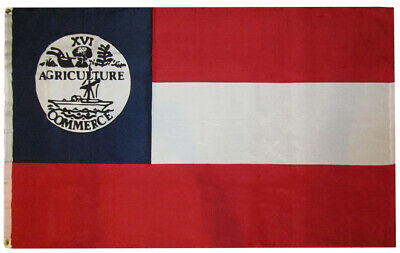 3x5 Tennessee CSA State 1861 Proposed 3'x5' Rough Tex 100D Oxford Poly Flag