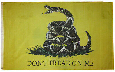 3x5 Gadsden Realistic Snake Don't Tread 3'x5' Rough Tex 100D Oxford Poly Flag