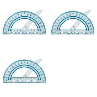 3 Pack Fiskars Plastic Swing Arm Protractor