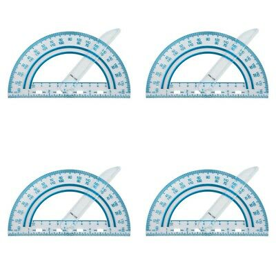 4 Pack Fiskars Plastic Swing Arm Protractor