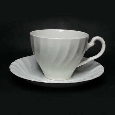 White Coffee Cup Made in England Porcelain