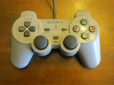 Official OEM Sony PlayStation 1 PSOne PS1 Grey SCPH-1200 Analog Controller NICE!