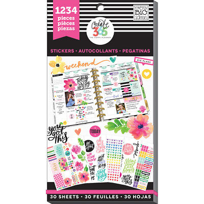 Create 365 Happy Planner Sticker Value Pack-Today Is The Day, 1234/Pkg