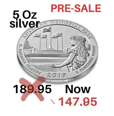 2019 5 oz Silver ATB American Memorial Park, Mariana Islands. PRE SALE OFFER
