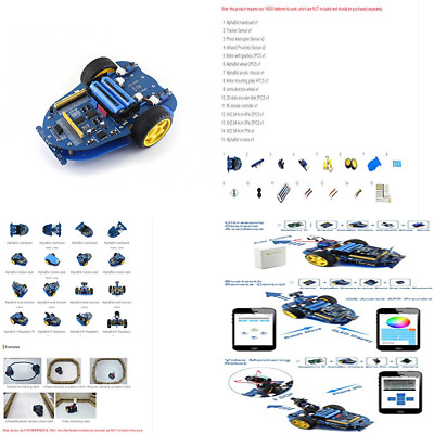Alphabot DIY Mobile Robot Development Platform Chassis For Raspberry Pi Or Ardui