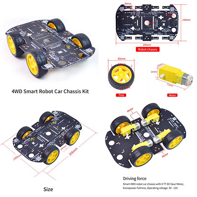 4WD Robot Chassis Kit W 4 TT Motor For Arduino/Raspberry Pi FREE SHIPPING